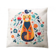 Amelia Cat Floral Cushion