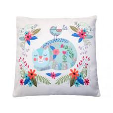 Tabitha Cat Floral Cushion