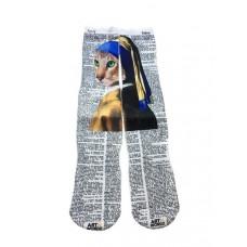 Artnwords Blue Cat Socks