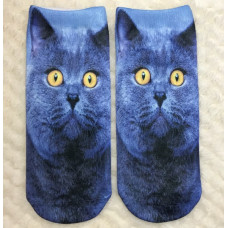British Blue Cat Socks