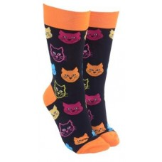 Cat Face Socks - Orange