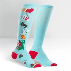 Jingle Cats Knee High Socks
