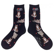 I Love My Tabby Socks