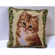 Jacquard Kitten Cushion